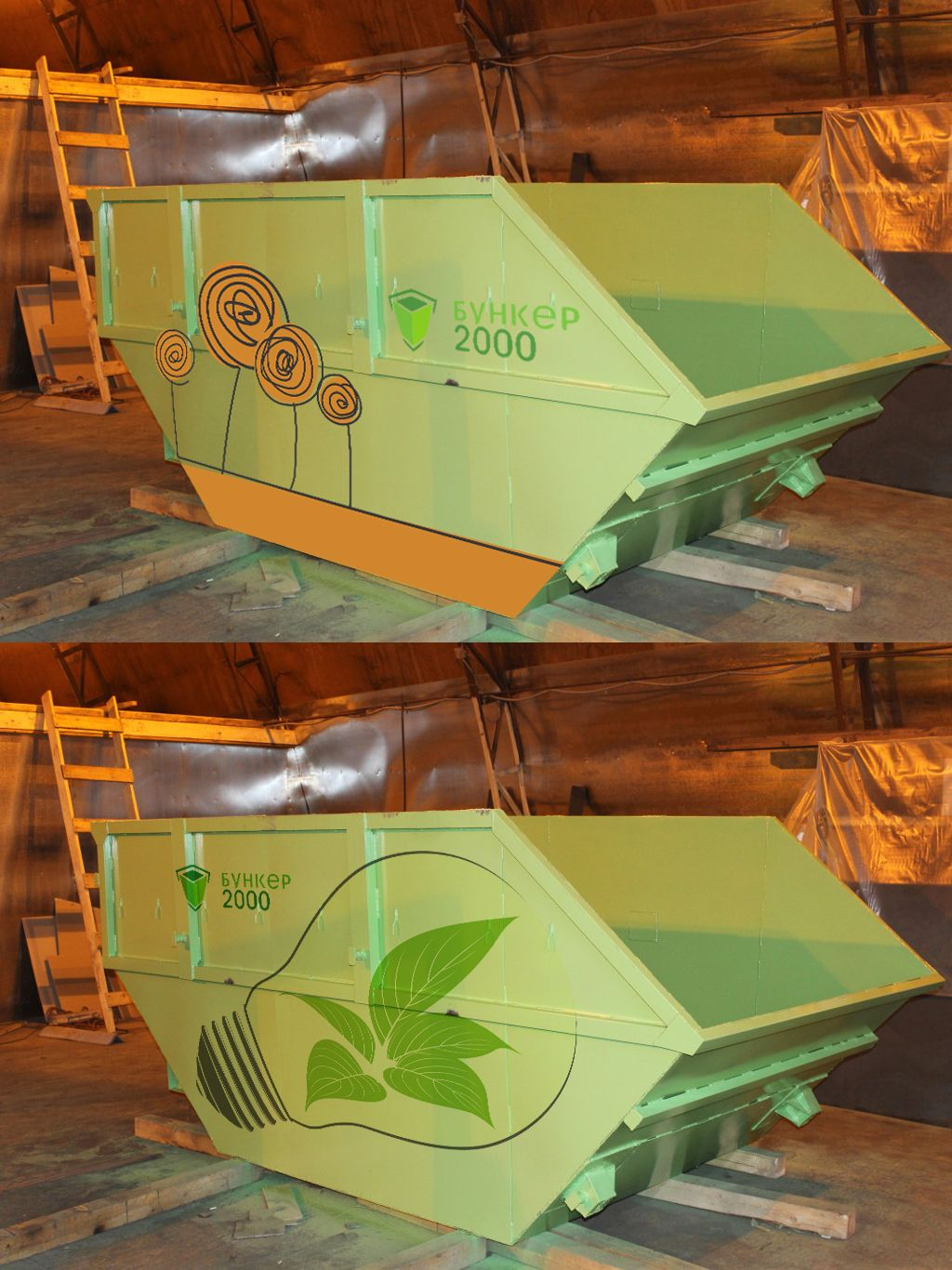 Шаблон раскраски мусорных контейнеров и бункеров - дизайнер arahmo