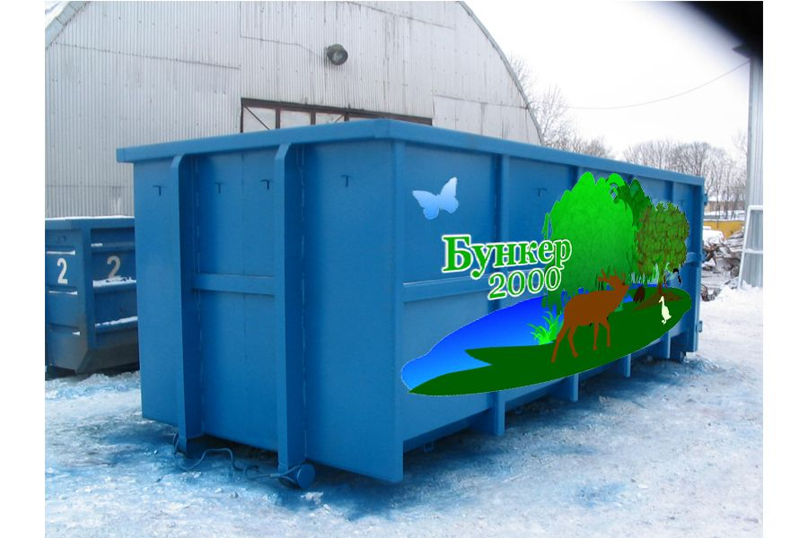 Шаблон раскраски мусорных контейнеров и бункеров - дизайнер BeSSpaloFF