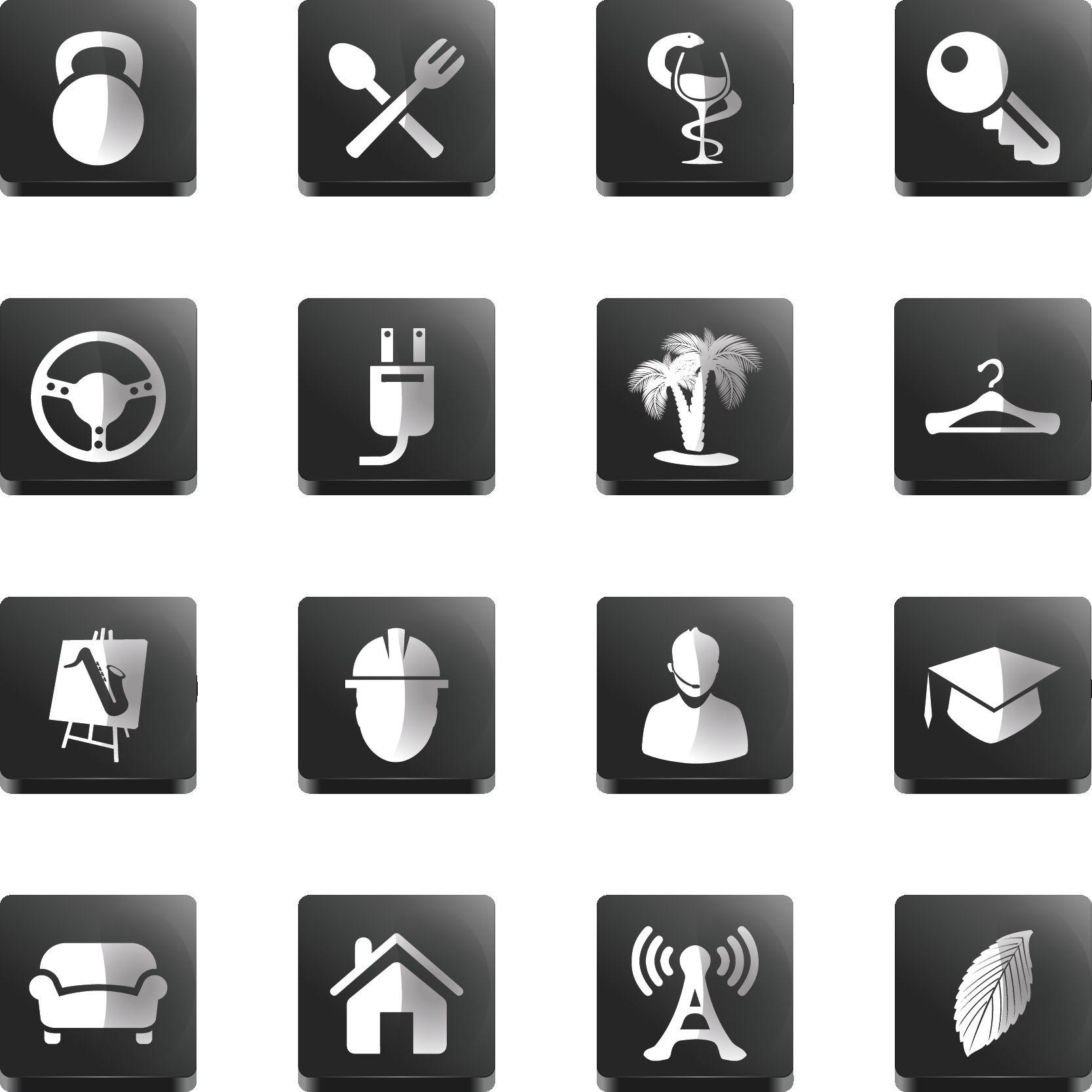 Иконки\кнопки для городского портала - дизайнер kost9kost