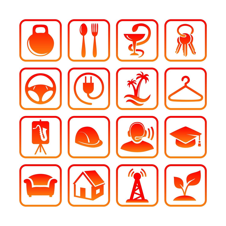 Иконки\кнопки для городского портала - дизайнер Ollka1
