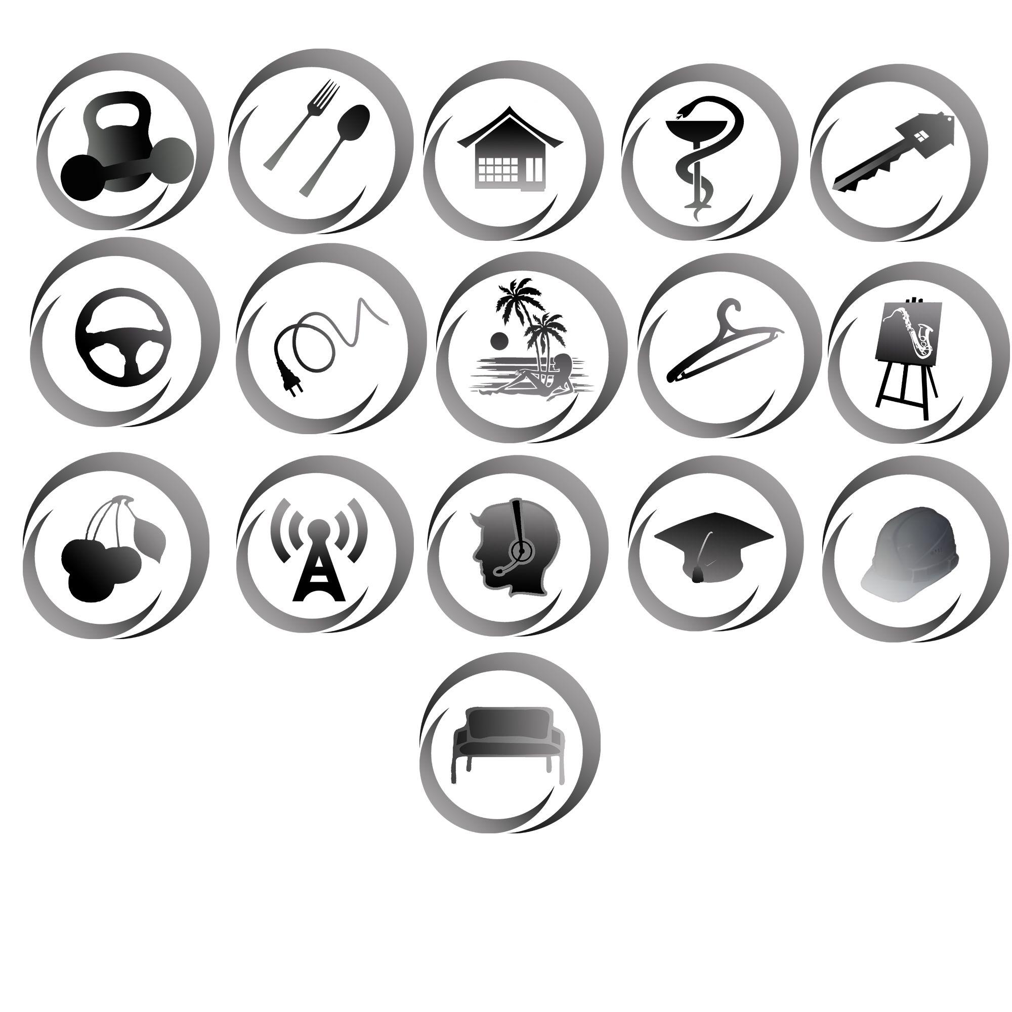 Иконки\кнопки для городского портала - дизайнер Velo16