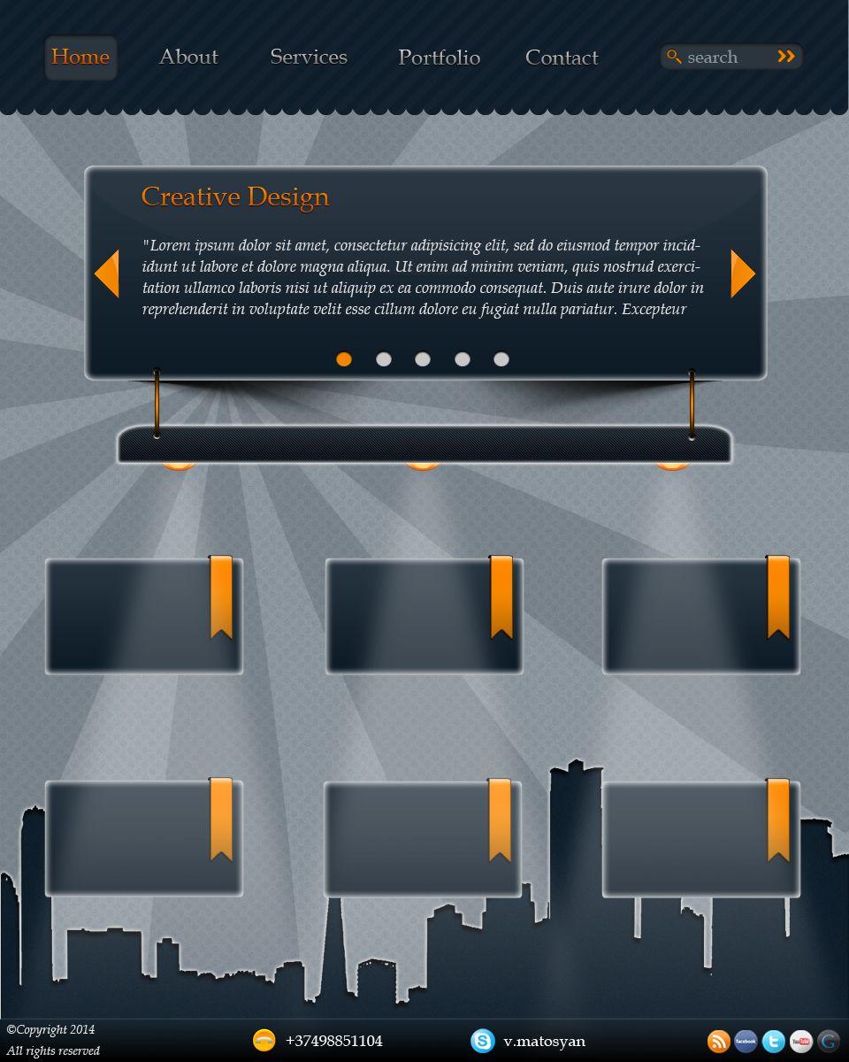 Дизайн сайта - дизайнер VaheMatosyan
