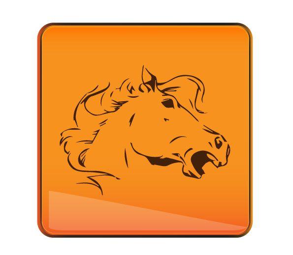 Образ лошади в логотипе (спортивная аналитика) - дизайнер Gru3uH