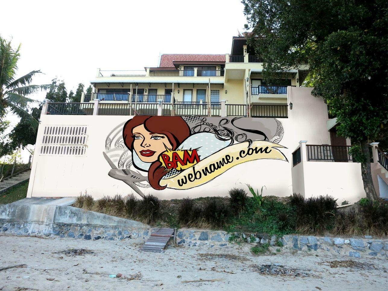 Эскиз для росписи стены - дизайнер Zhukova_Kseniya