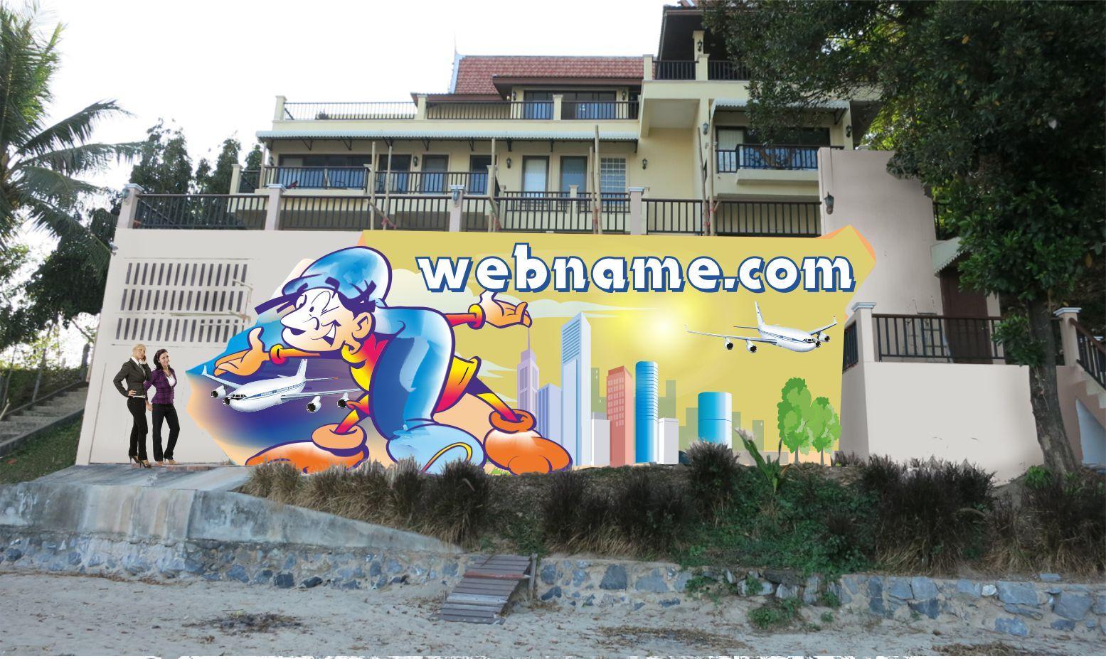 Эскиз для росписи стены - дизайнер mamaanwar