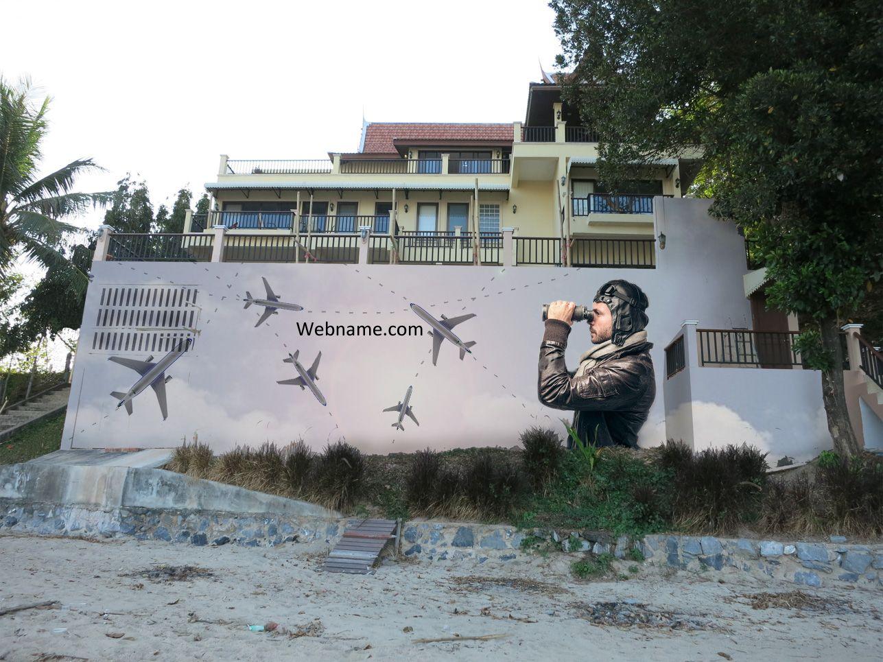 Эскиз для росписи стены - дизайнер nile