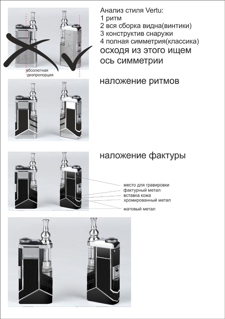 Стиль VERTU для электронной сигареты - дизайнер stason2008
