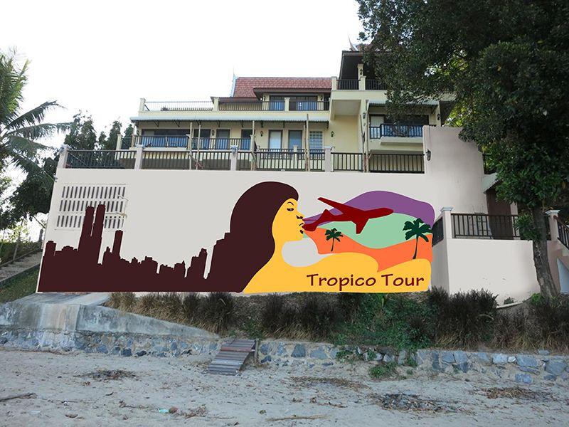 Эскиз для росписи стены - дизайнер NastyaRash