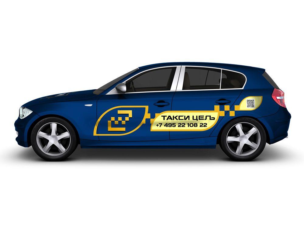 Рекламное оформление автомобиля такси - дизайнер Upright