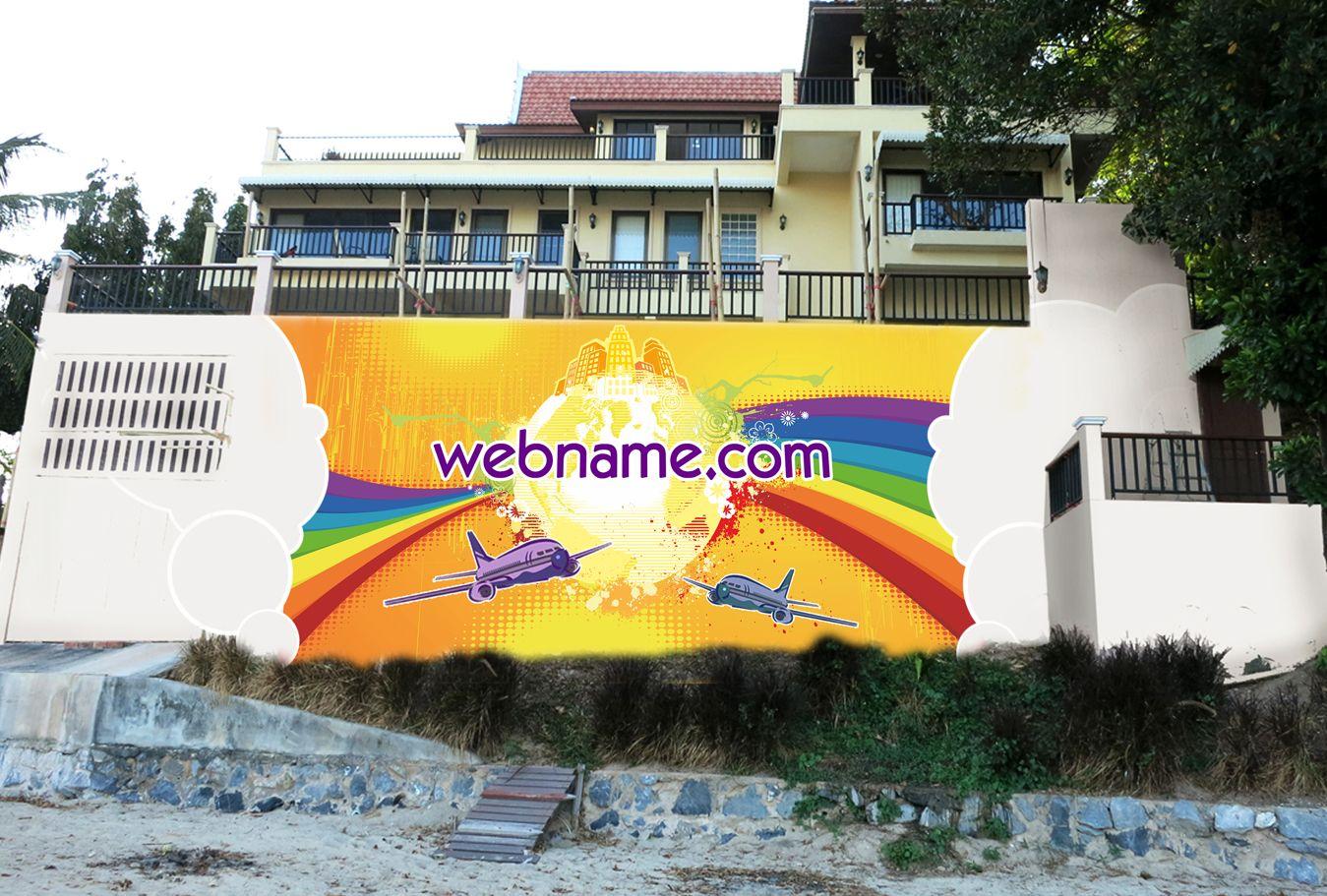 Эскиз для росписи стены - дизайнер art-valeri