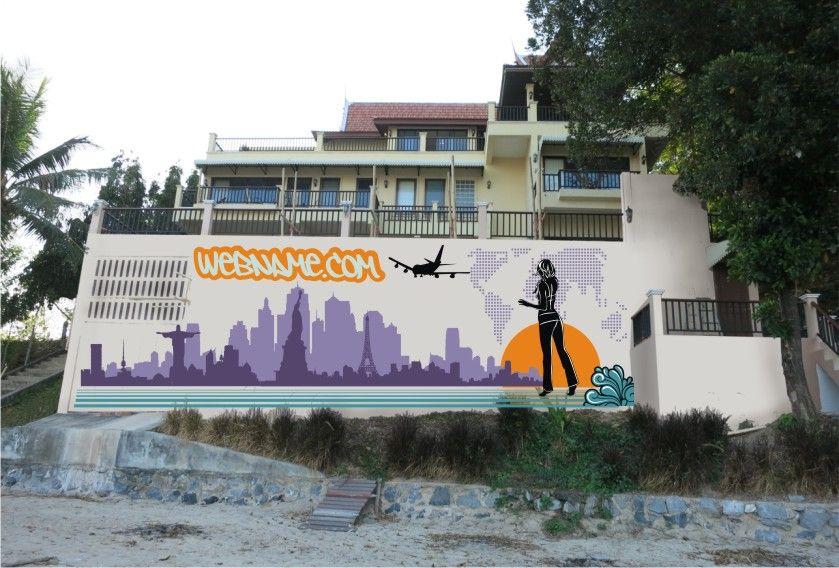 Эскиз для росписи стены - дизайнер bockko