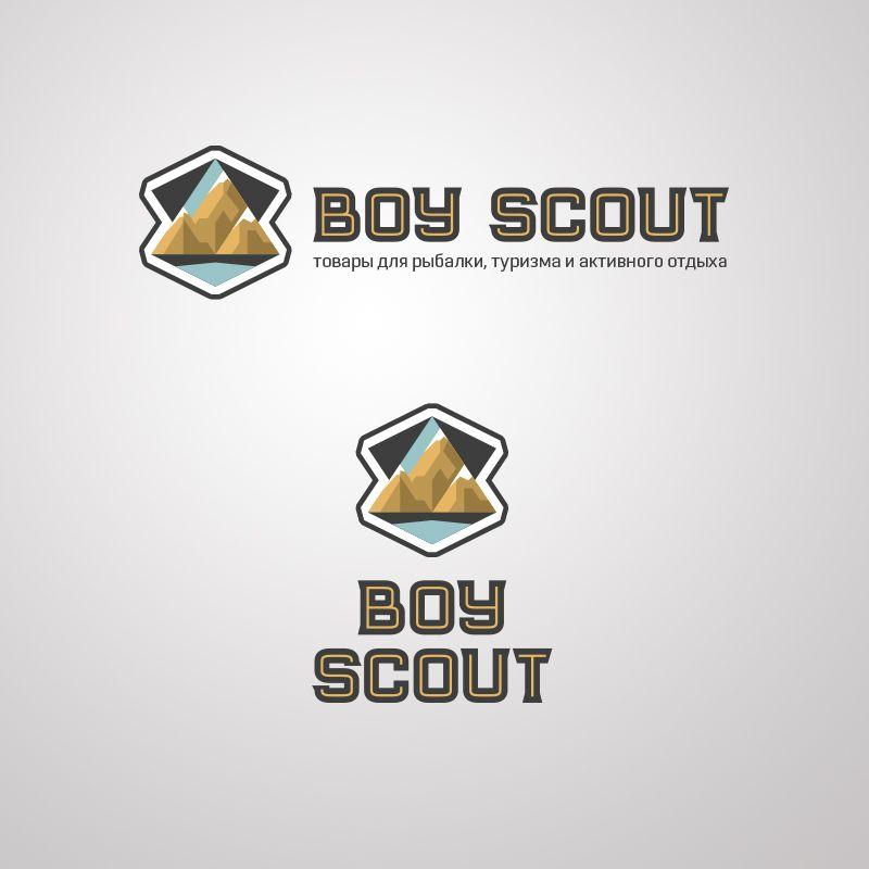 Логотип для сайта интернет-магазина BOY SCOUT - дизайнер byX