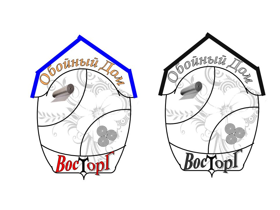 Логотип обойного дома - дизайнер solleti