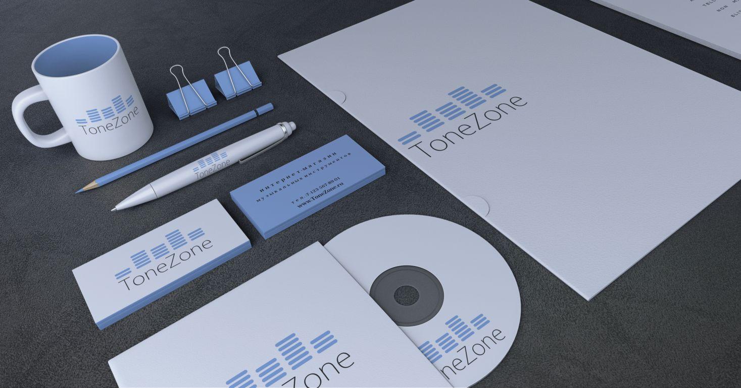 Лого и фирм. стиль инет-магазина муз. инструментов - дизайнер turboegoist
