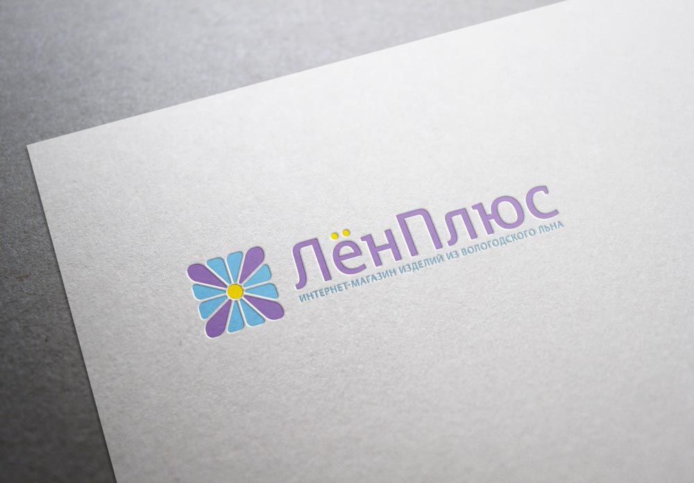 Логотип интернет-магазина ЛенПлюс - дизайнер tutcode