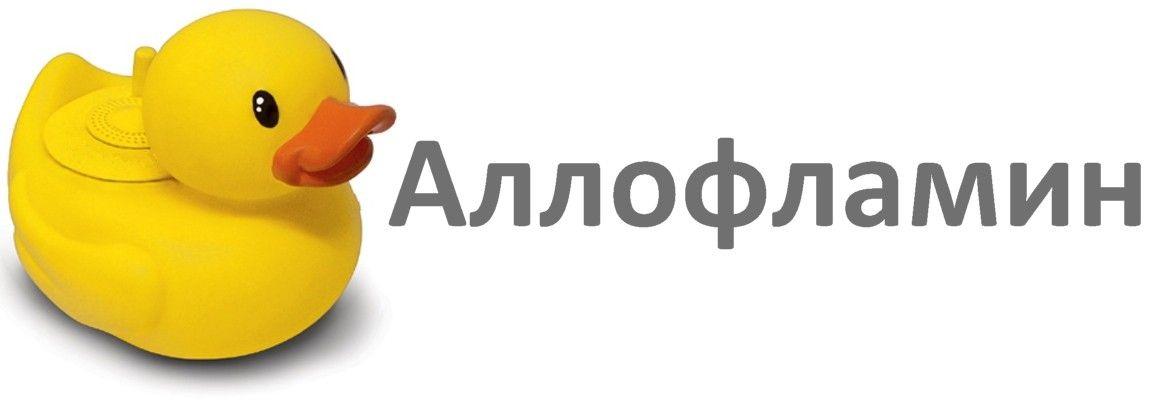 Логотип препарата Аллофламин - дизайнер Mar_Studio