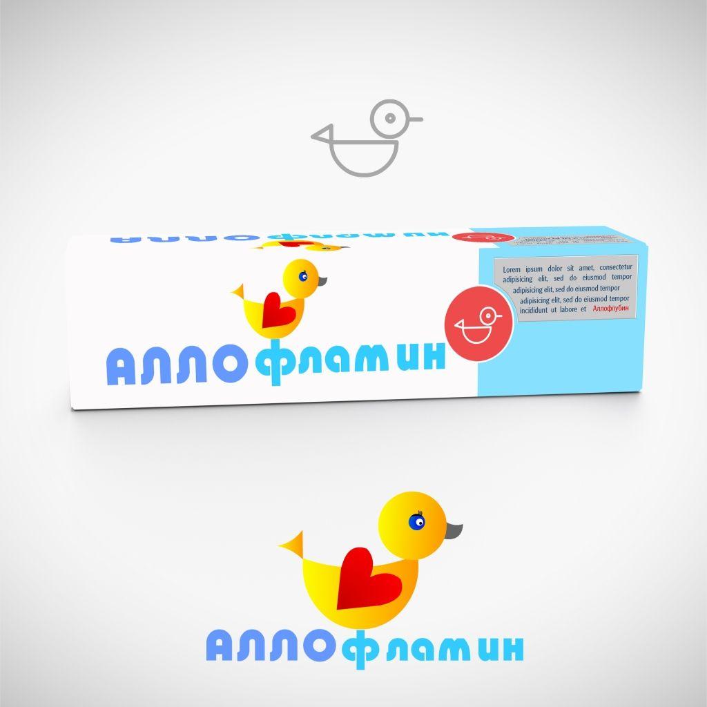 Логотип препарата Аллофламин - дизайнер Keroberas