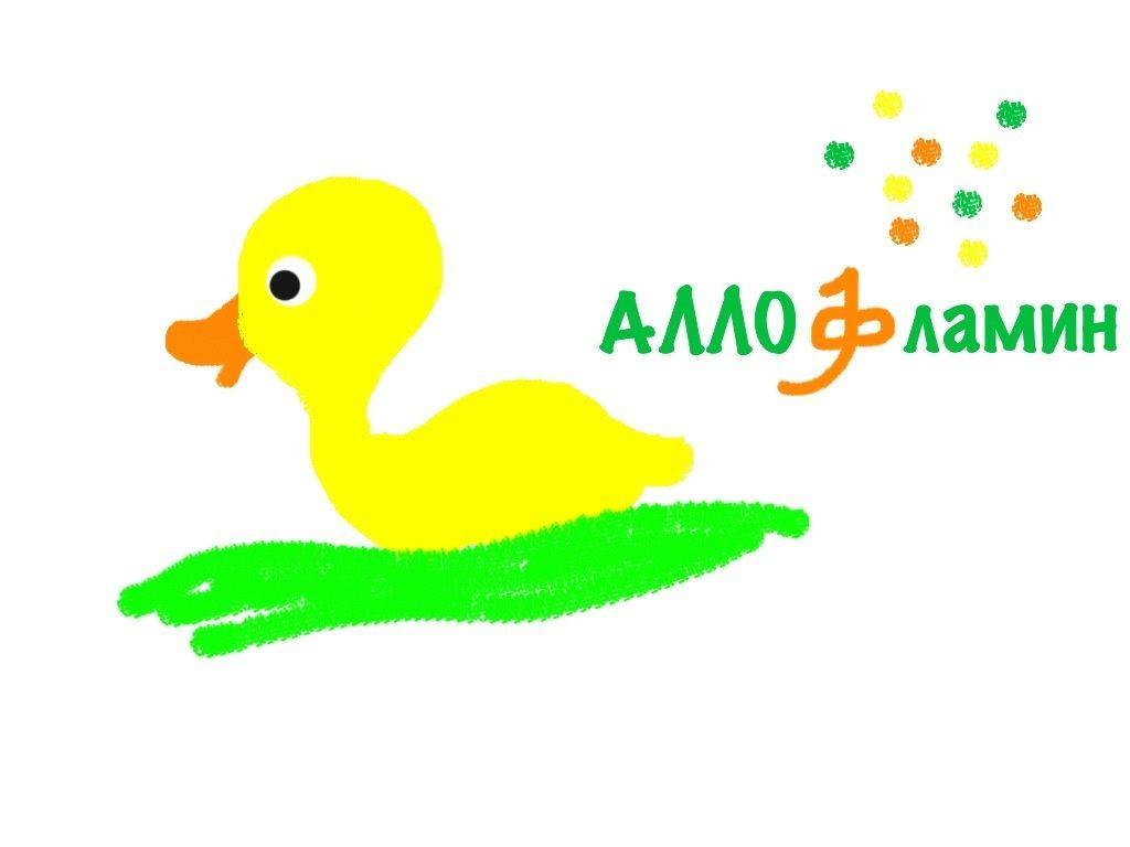 Логотип препарата Аллофламин - дизайнер Oldish