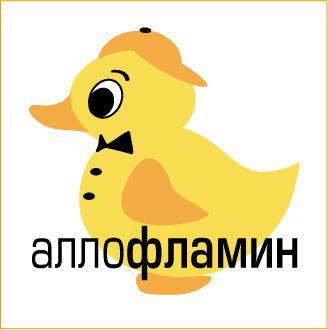 Логотип препарата Аллофламин - дизайнер ostrovart