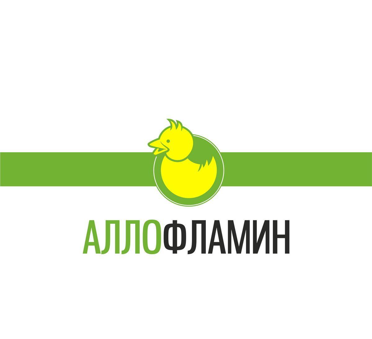 Логотип препарата Аллофламин - дизайнер BogDIC