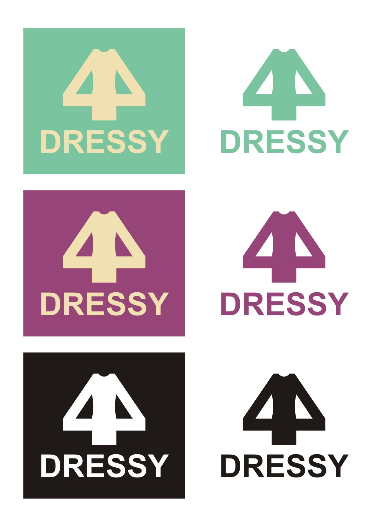 разработка логотипа _производство платьев - дизайнер uysh