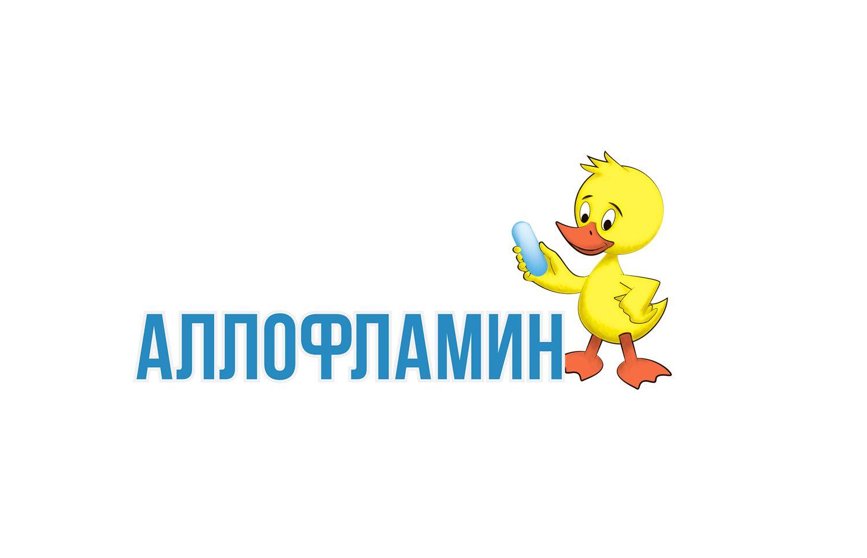 Логотип препарата Аллофламин - дизайнер Agor_