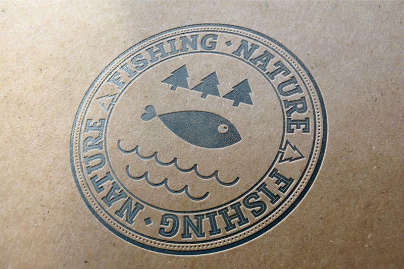 Лого он-лайн фотожурнала о рыболовстве и природе - дизайнер Ryazanova_A