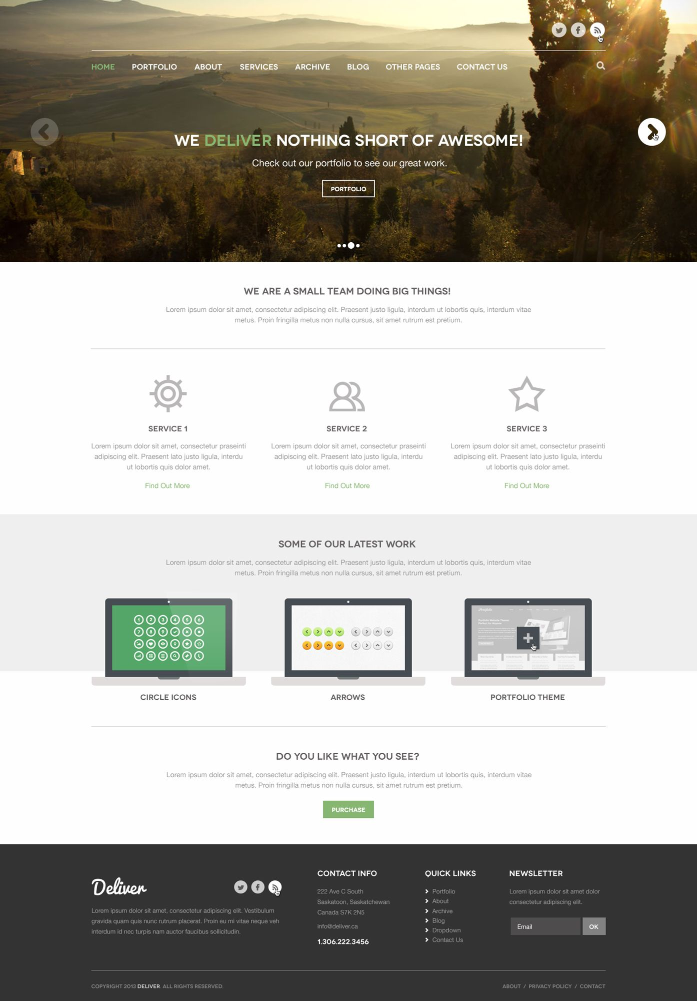 Адаптивный дизайн главной сайта (под мобилки) - дизайнер seba-furego