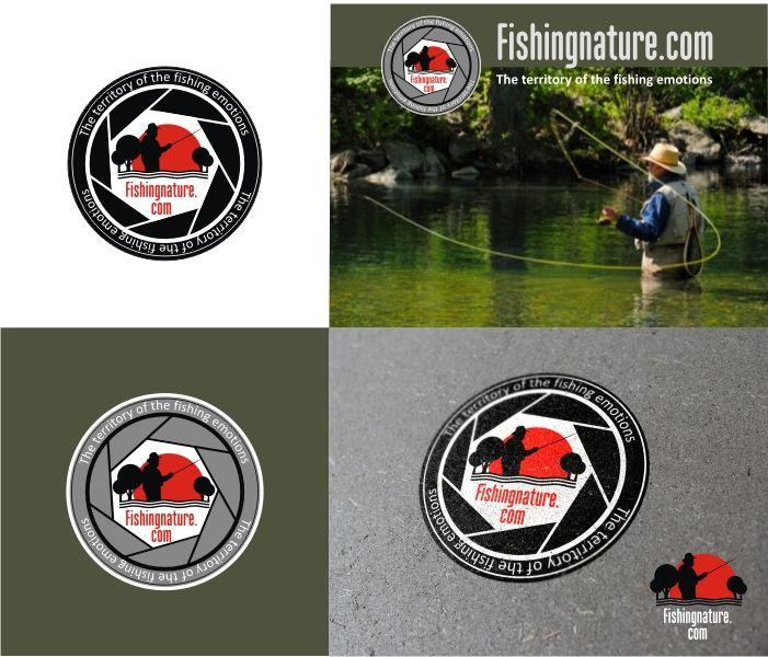 Лого он-лайн фотожурнала о рыболовстве и природе - дизайнер pashashama