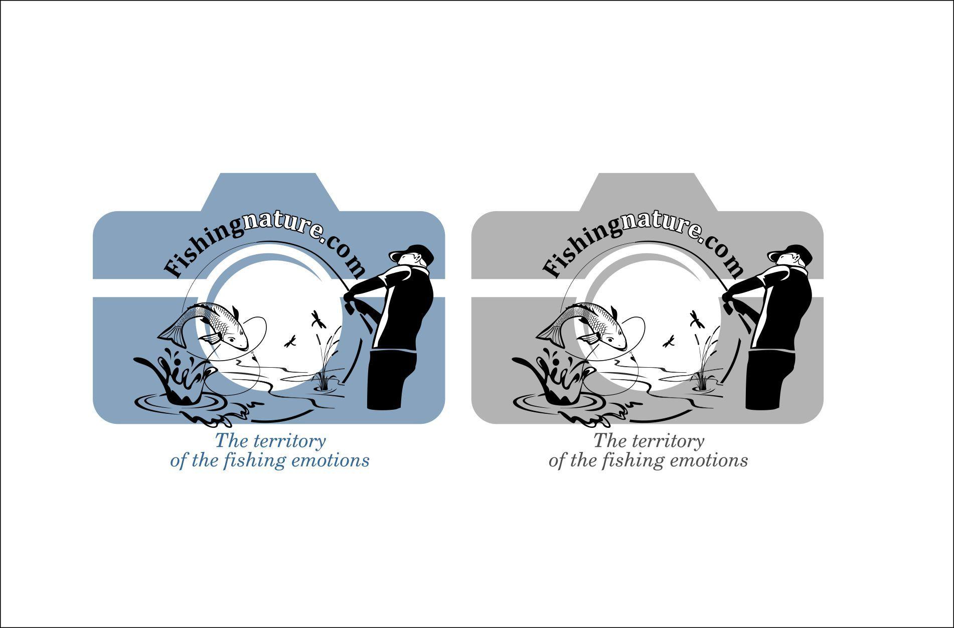 Лого он-лайн фотожурнала о рыболовстве и природе - дизайнер Navsekaya