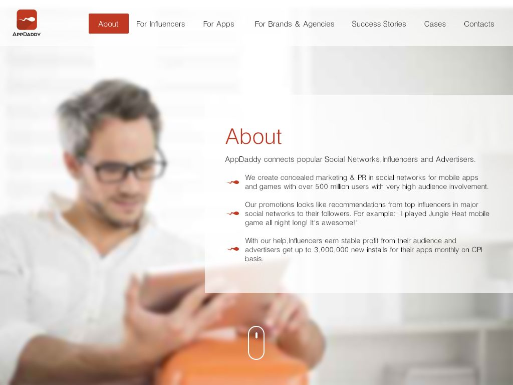 Адаптивный дизайн главной сайта (под мобилки) - дизайнер McMasik