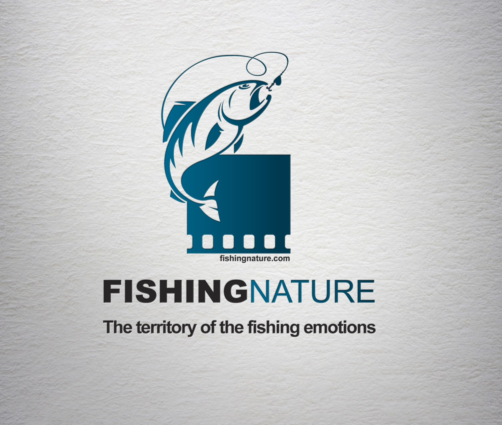 Лого он-лайн фотожурнала о рыболовстве и природе - дизайнер hotmart