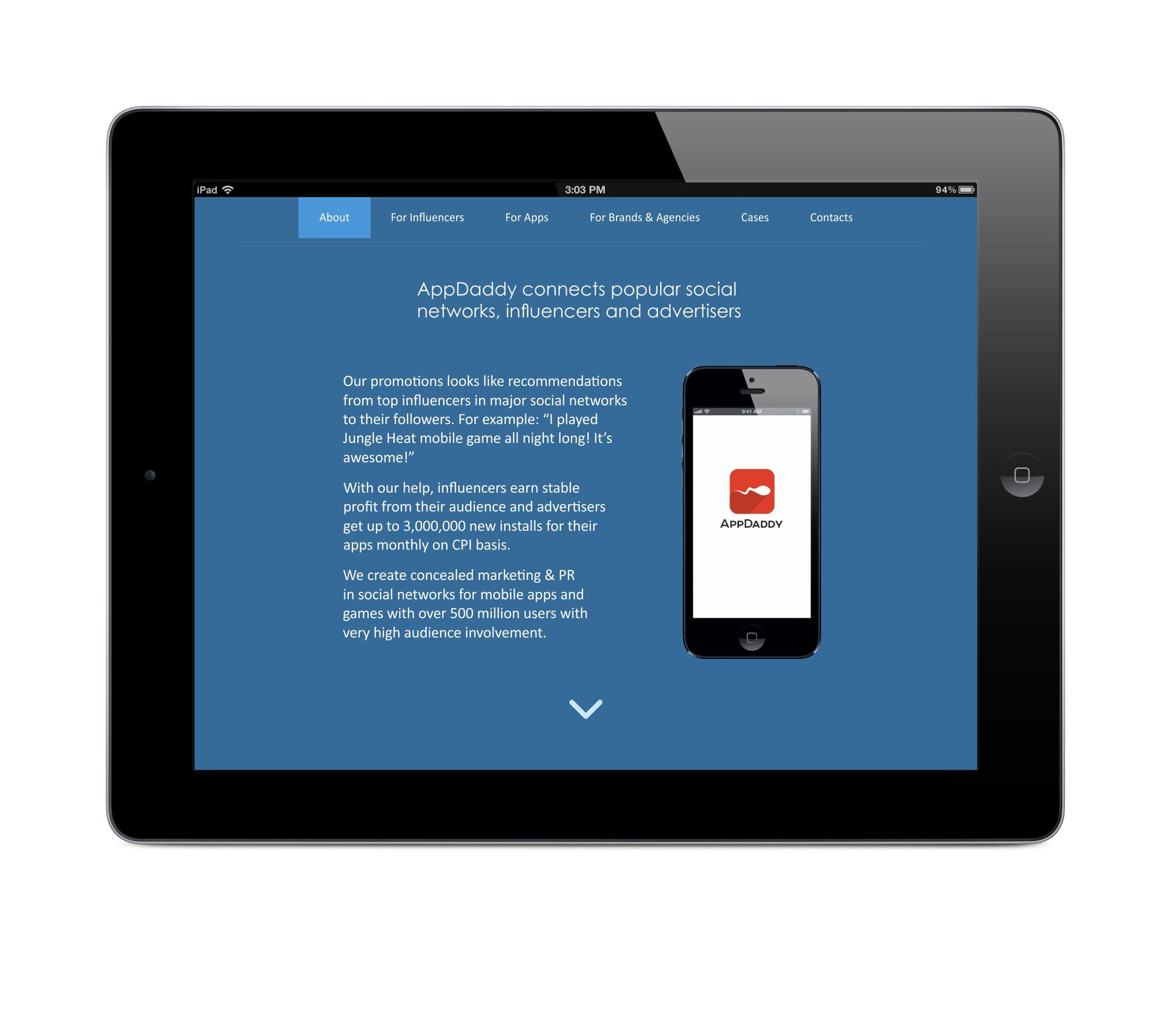Адаптивный дизайн главной сайта (под мобилки) - дизайнер Ewgene