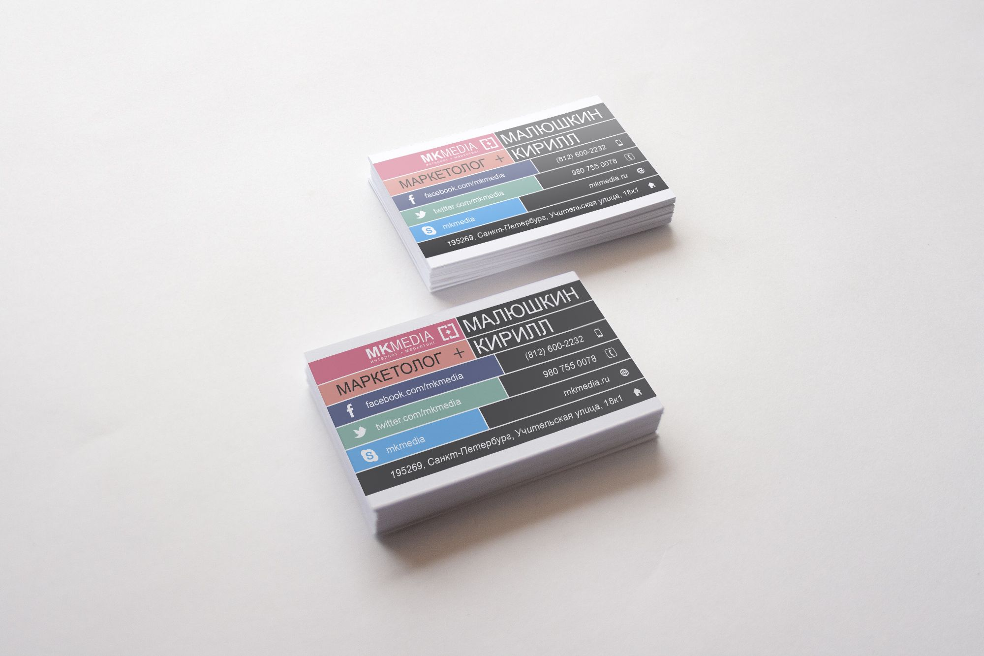 Разработка дизайна визитной карточки - дизайнер dezign16