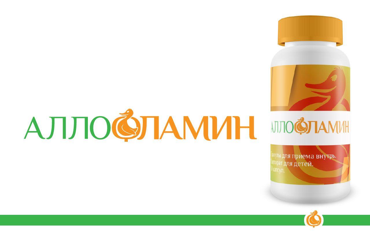 Логотип препарата Аллофламин - дизайнер AtasMsk