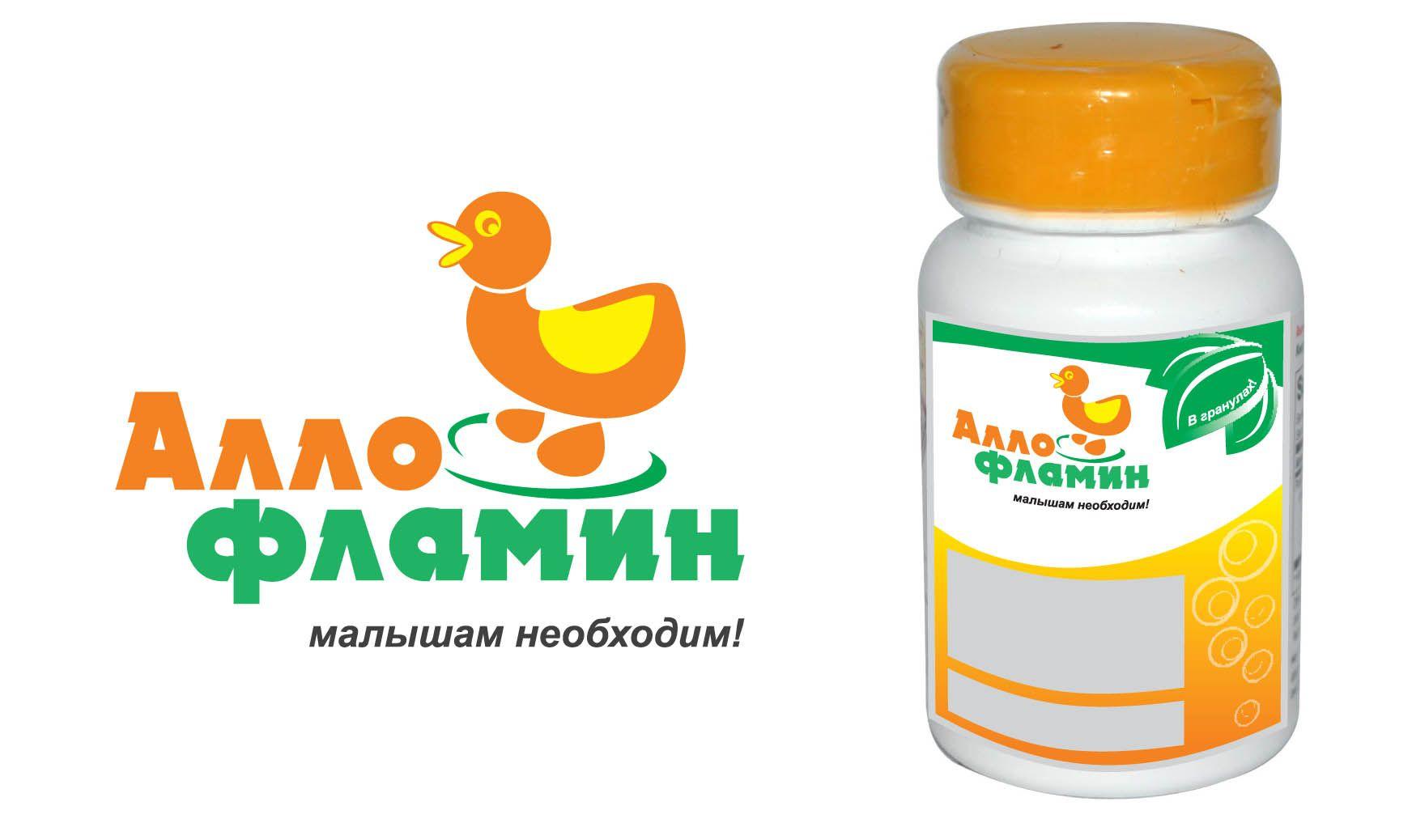 Логотип препарата Аллофламин - дизайнер Lucknni