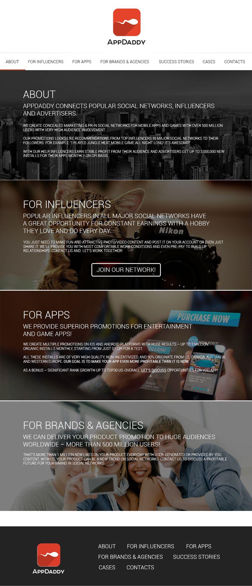 Адаптивный дизайн главной сайта (под мобилки) - дизайнер goljakovai