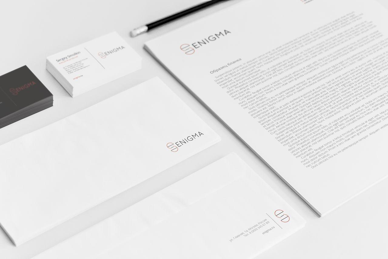 Логотип и фирмстиль для Enigma - дизайнер RealityOne