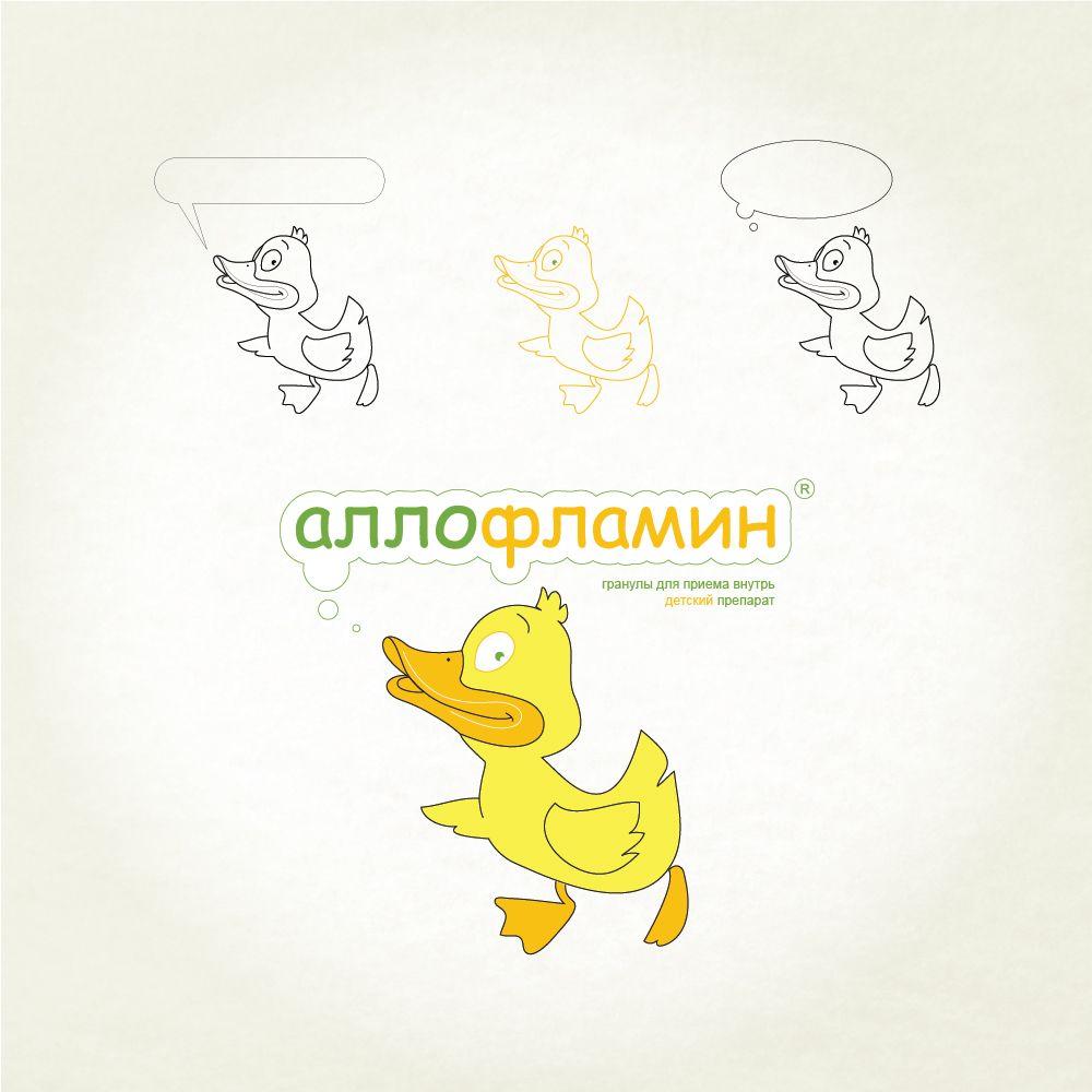 Логотип препарата Аллофламин - дизайнер Evzenka