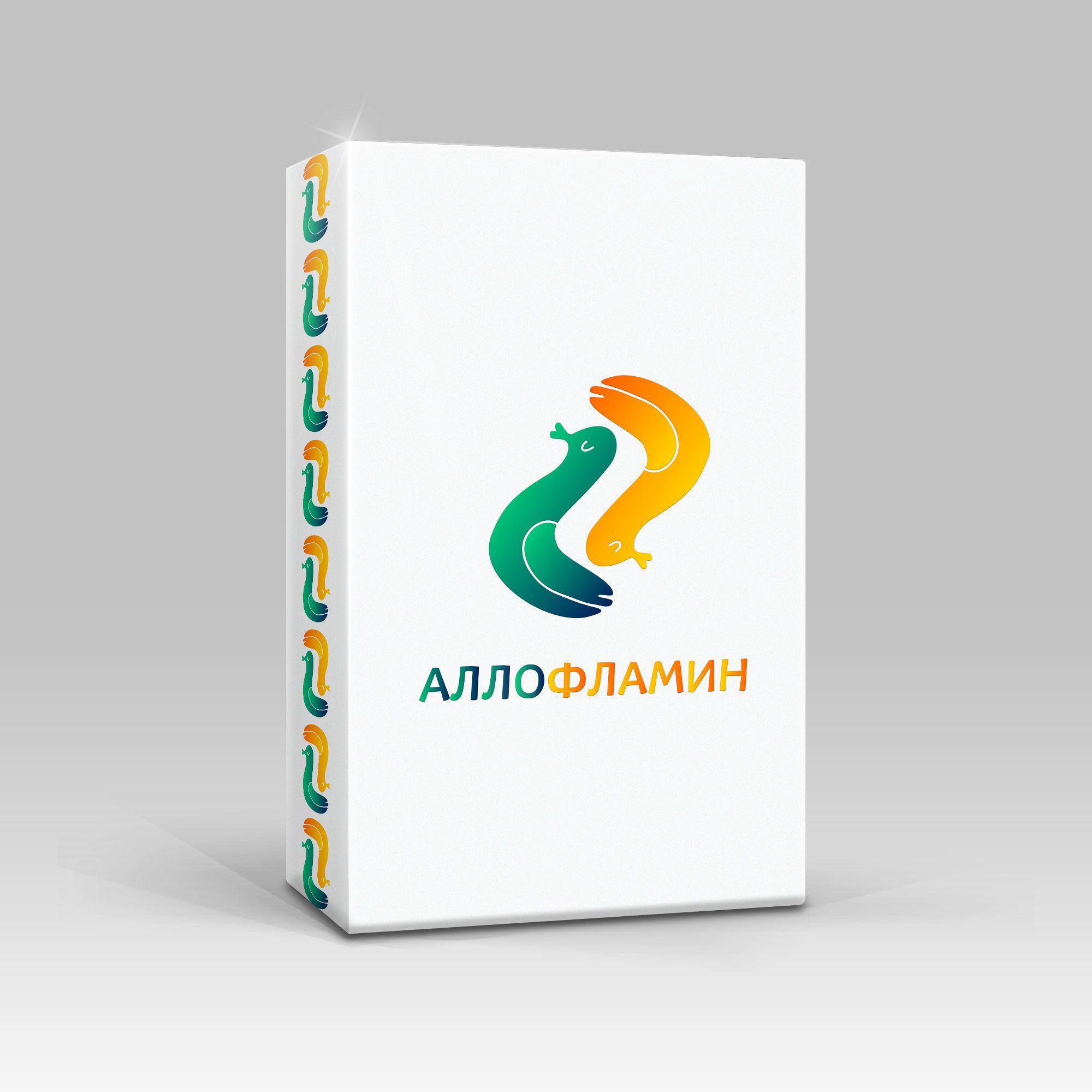 Логотип препарата Аллофламин - дизайнер TanOK1