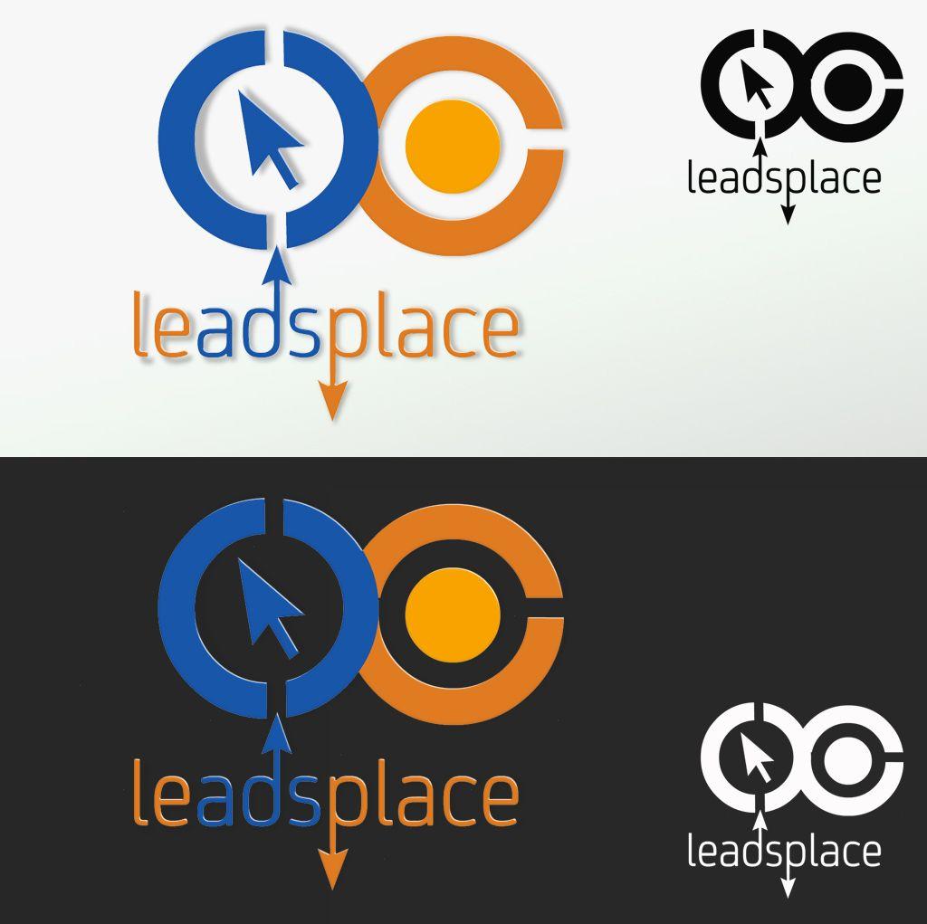 leadsplace.com - логотип - дизайнер Keroberas