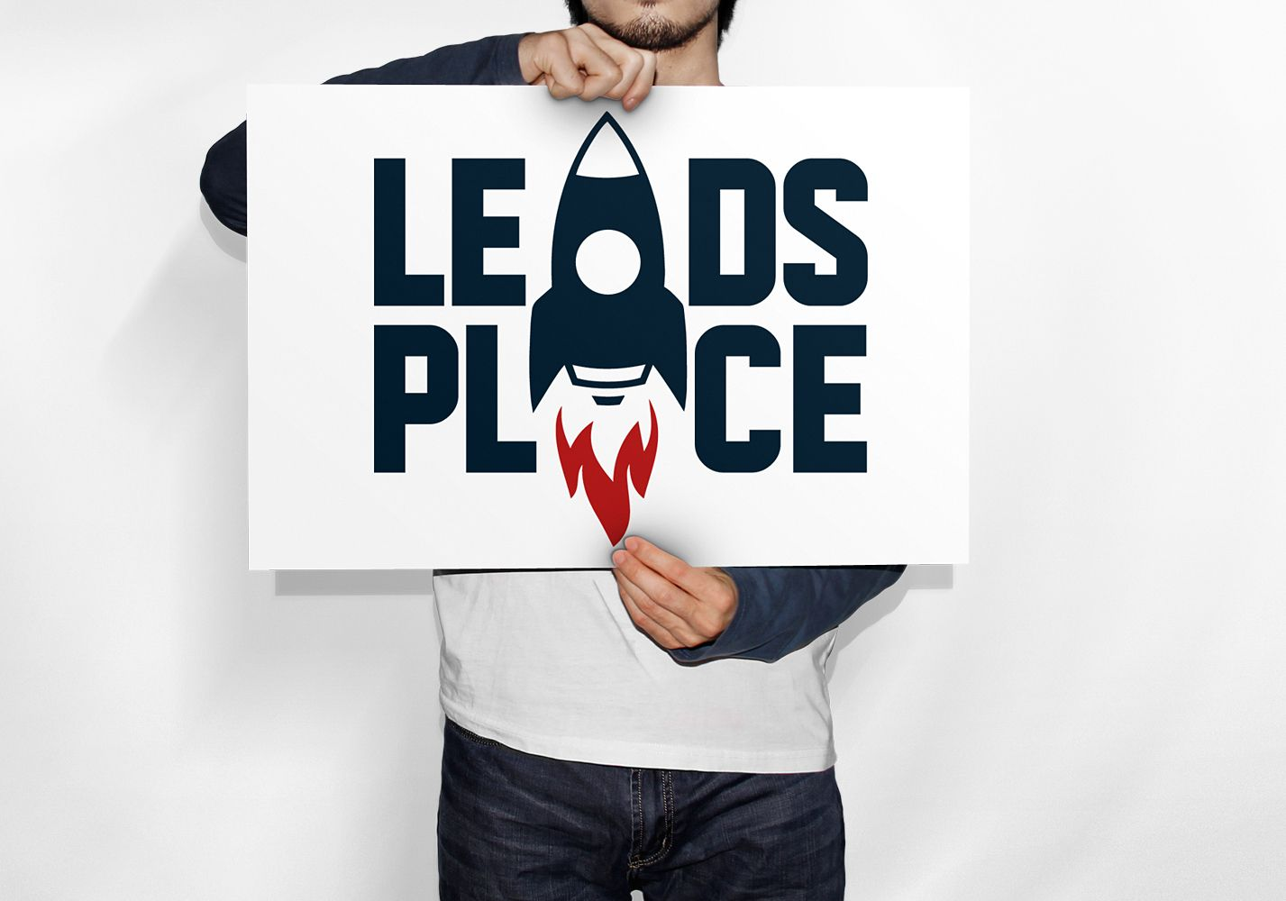 leadsplace.com - логотип - дизайнер YuliyaYu