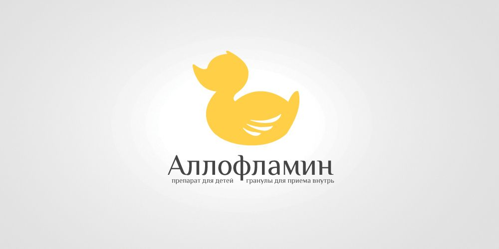 Логотип препарата Аллофламин - дизайнер Andrey_26