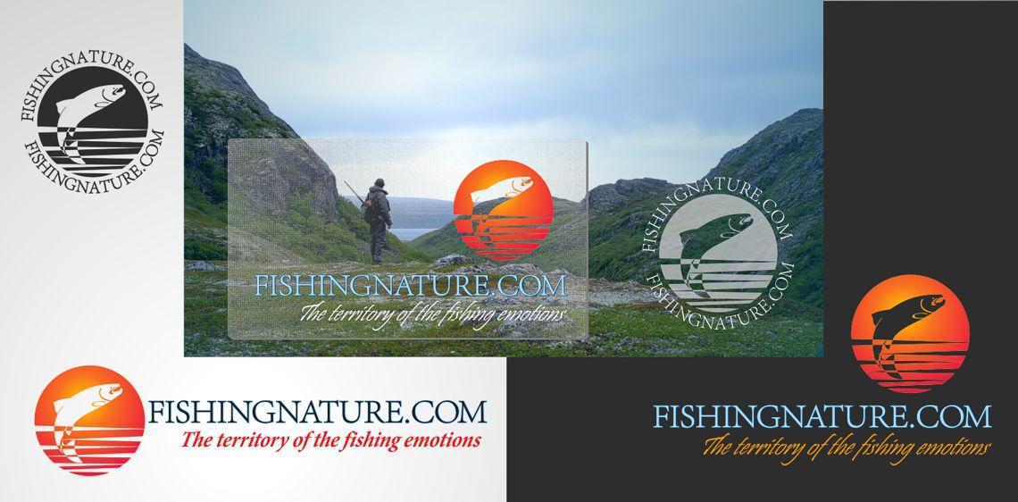 Лого он-лайн фотожурнала о рыболовстве и природе - дизайнер vchernets