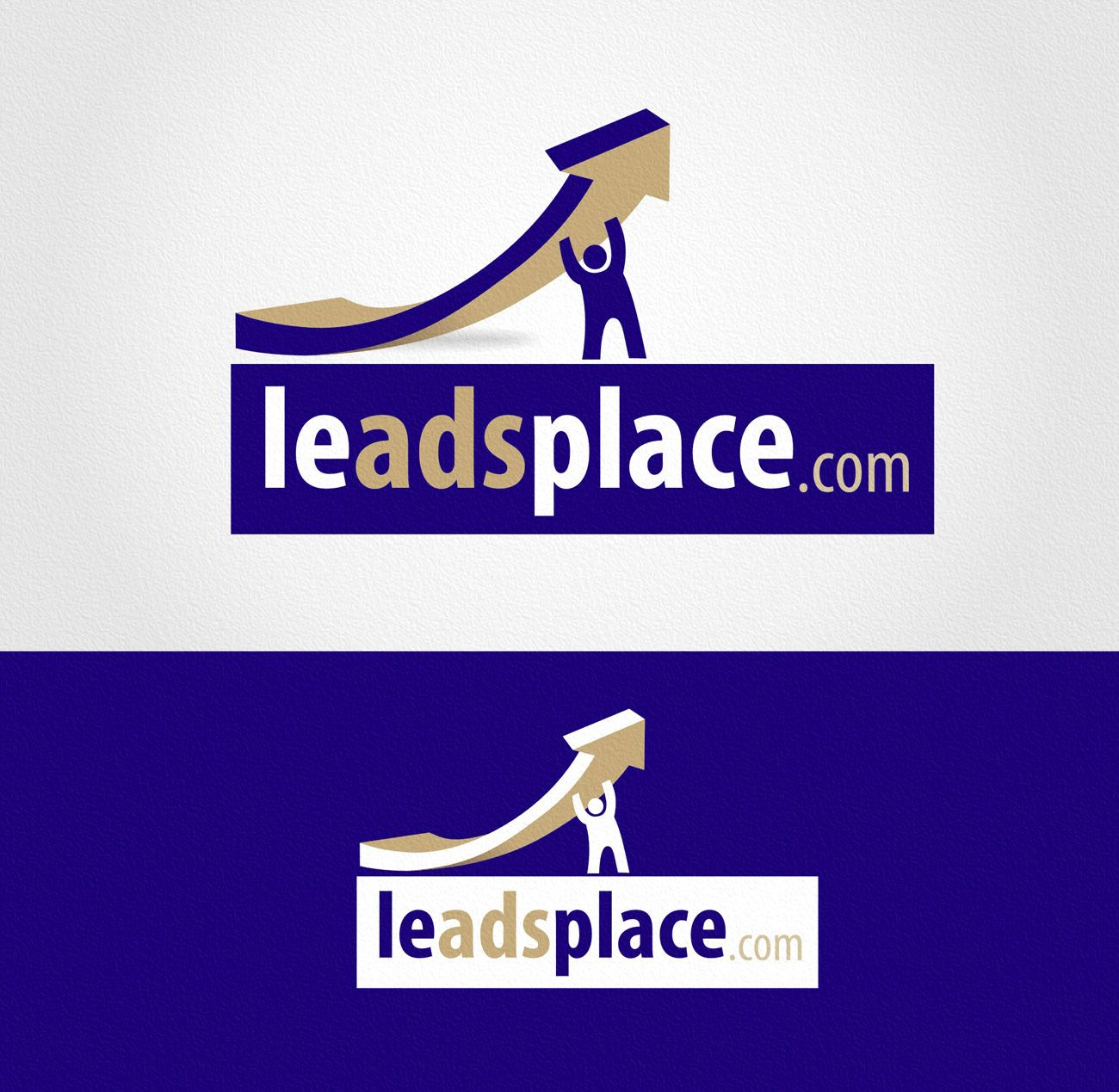 leadsplace.com - логотип - дизайнер Zheravin