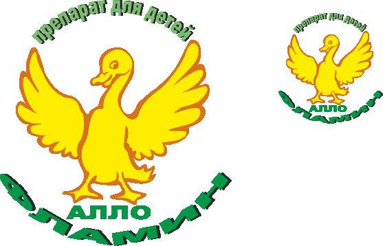 Логотип препарата Аллофламин - дизайнер Restavr