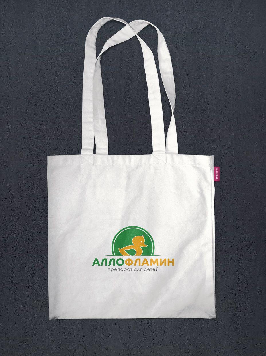 Логотип препарата Аллофламин - дизайнер mz777