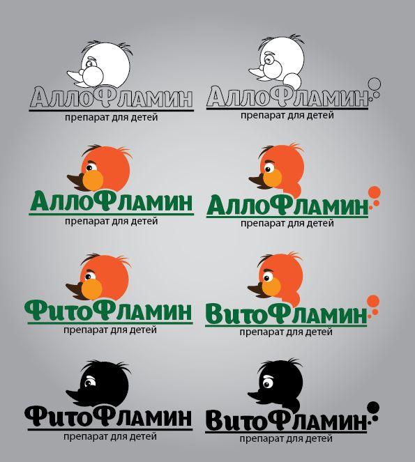 Логотип препарата Аллофламин - дизайнер lion_design