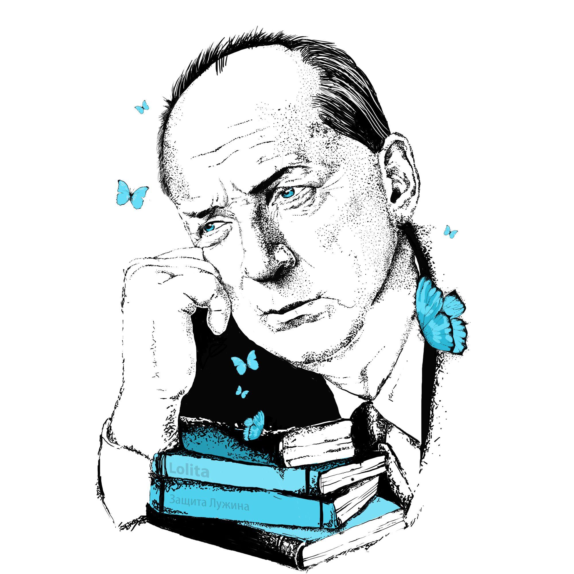 Плакат-портрет Владимира Набокова - дизайнер kolotova