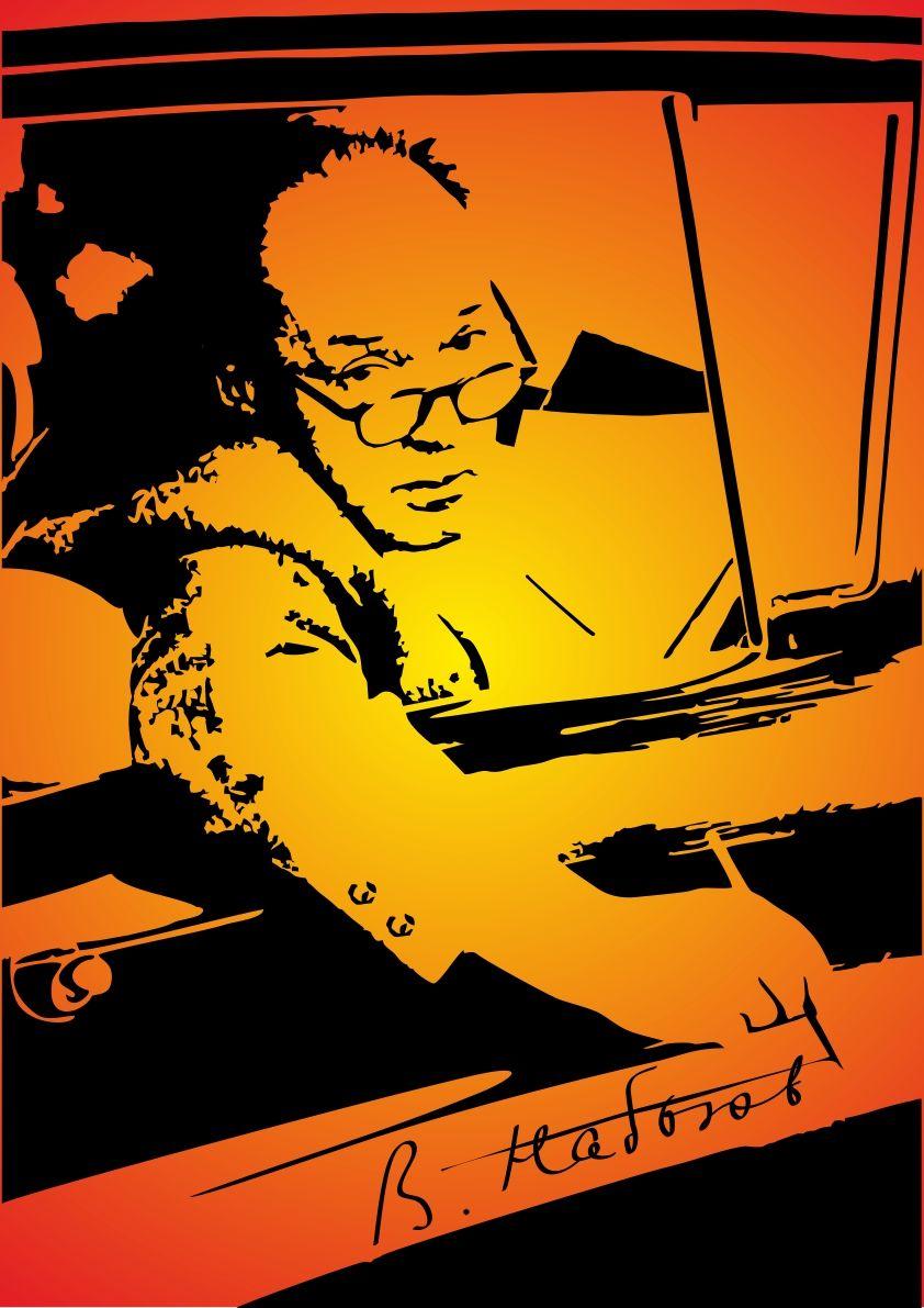 Плакат-портрет Владимира Набокова - дизайнер TinaPro